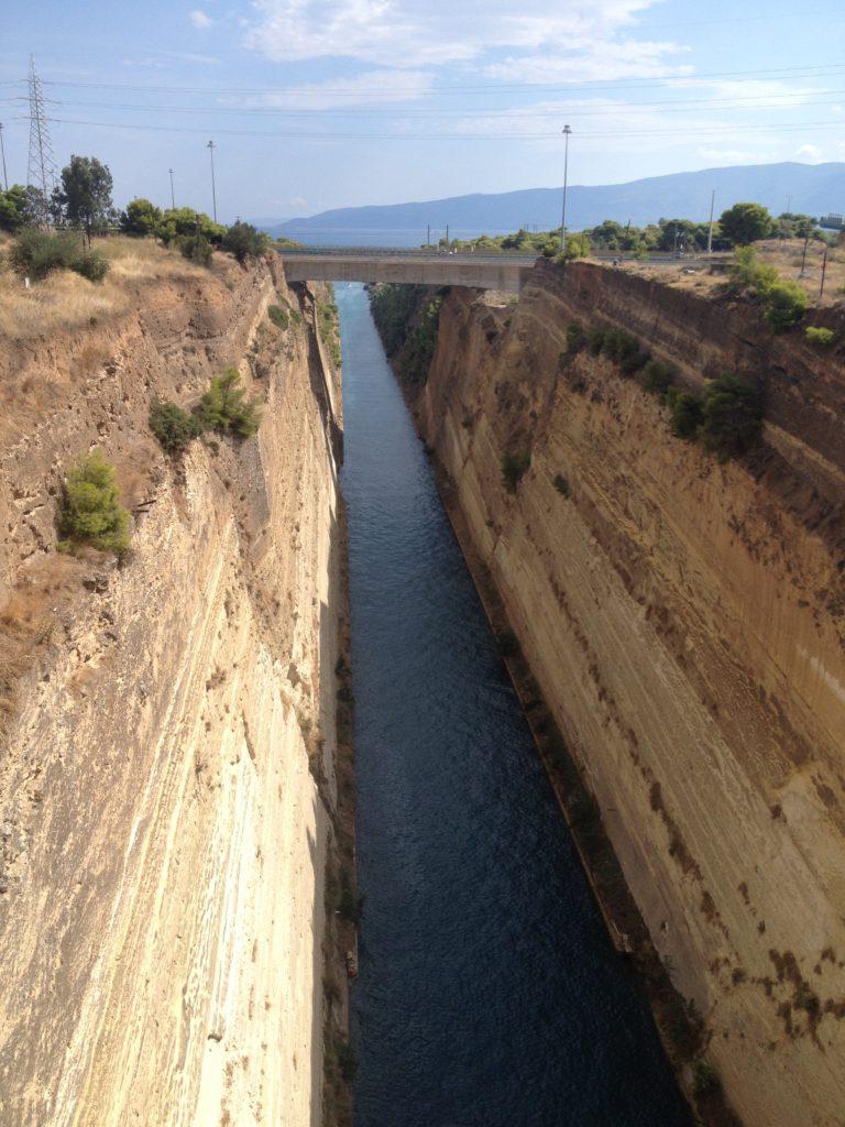Korintský průplav.