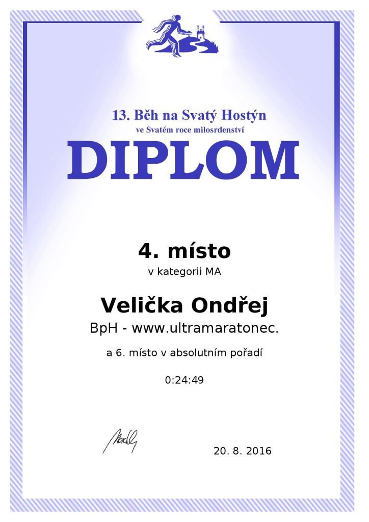 Diplom ze závodu.
