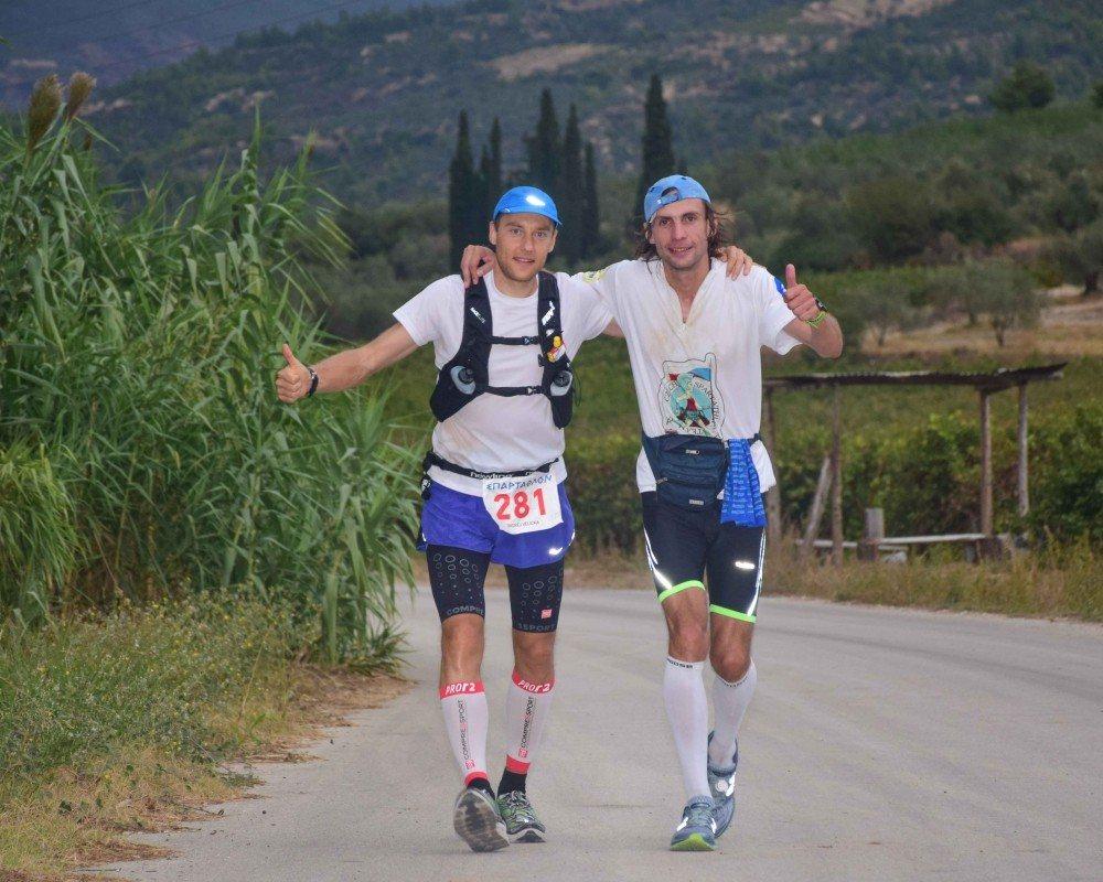 Několik kilometrů jsme běželi spolu se Zbyňkem. (fotka ze Zbyňkova blogu)