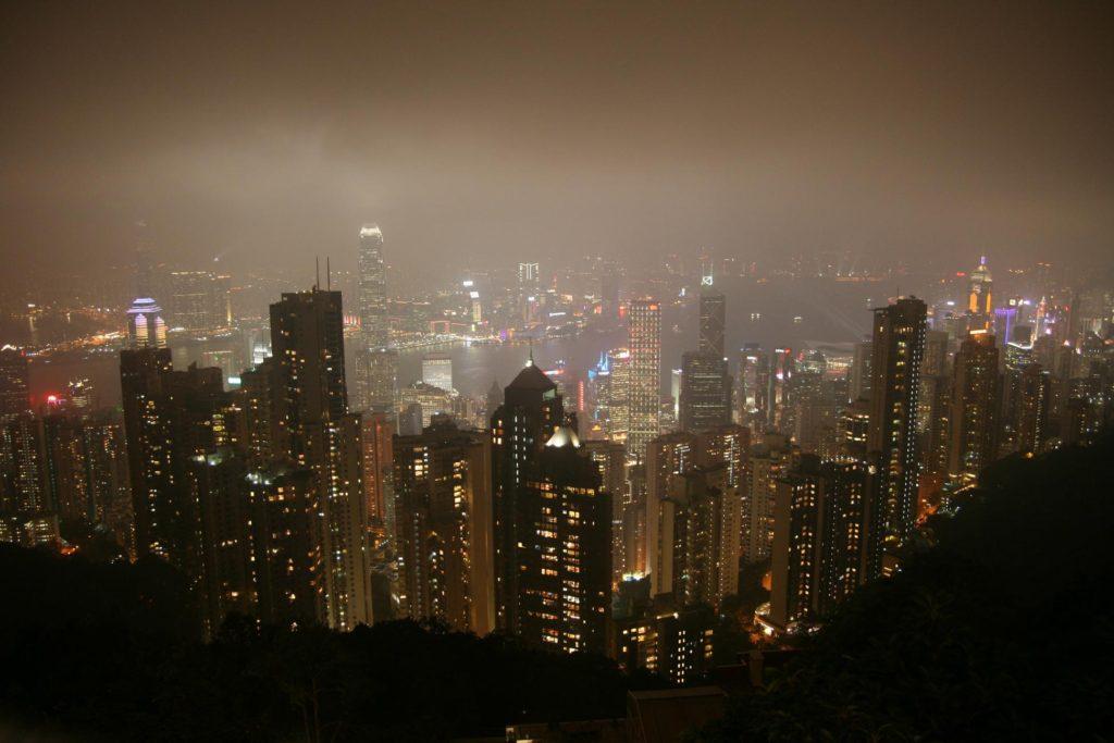 Hongkong v noci.