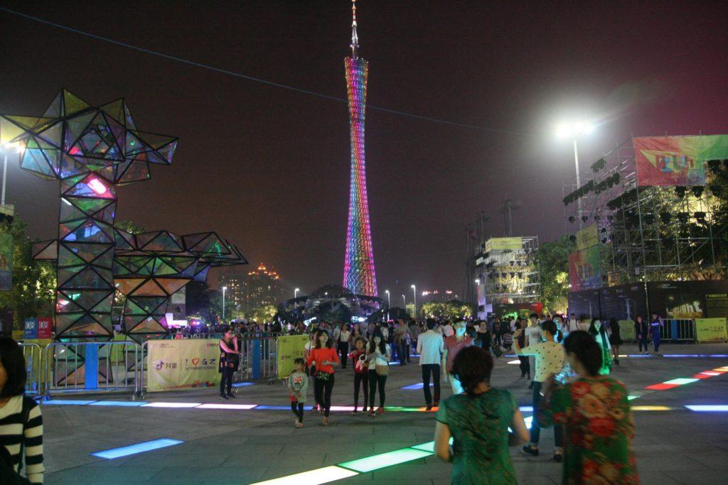 Canton Tower v Kantonu (Guangzhou)