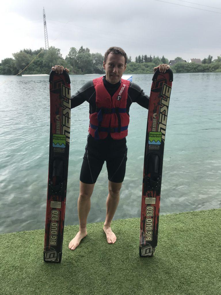 Vodní lyžování.