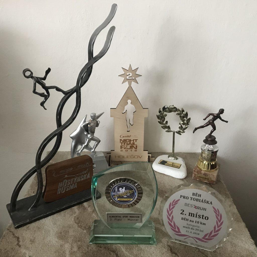 Trofeje získané v roce 2018.