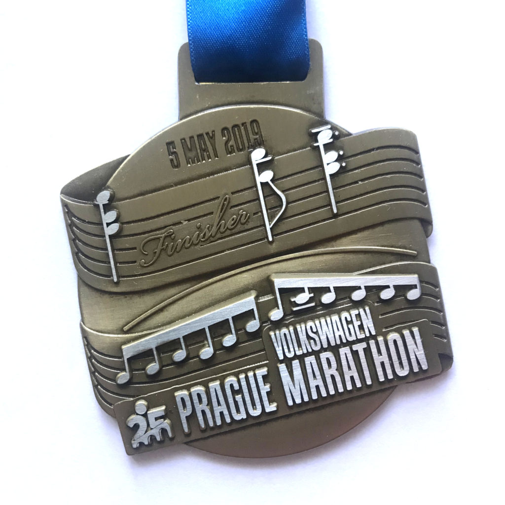 Krásná finišerská medaile.