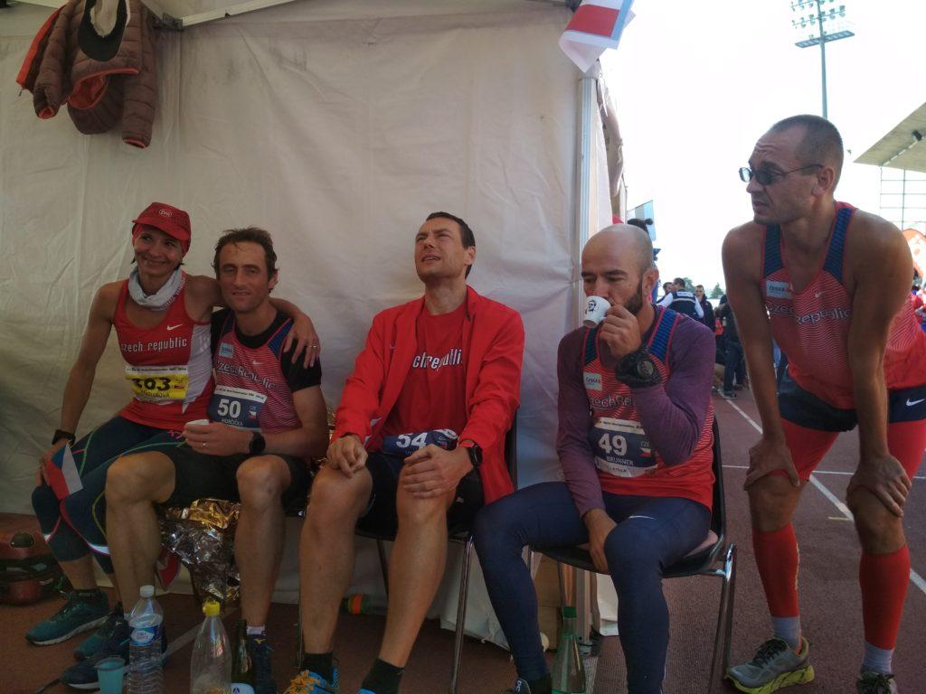 Utrpení na konci závodu, neuvěřitelně mě bolely svaly na nohách.