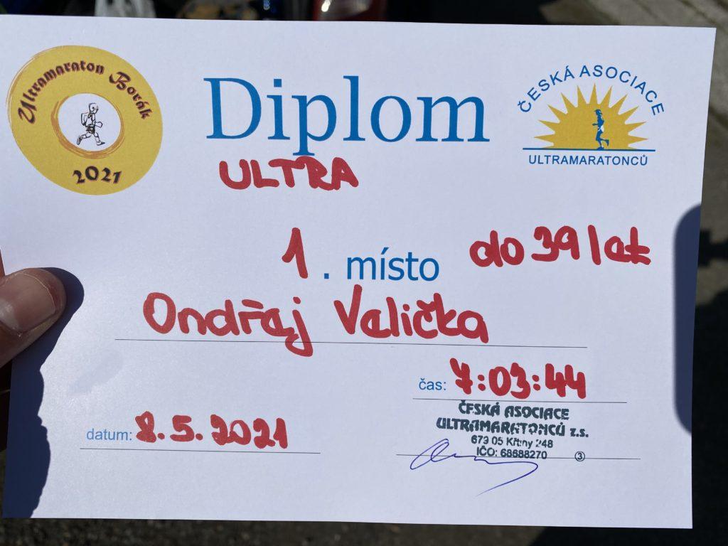 Diplom za první místo v kategorii.