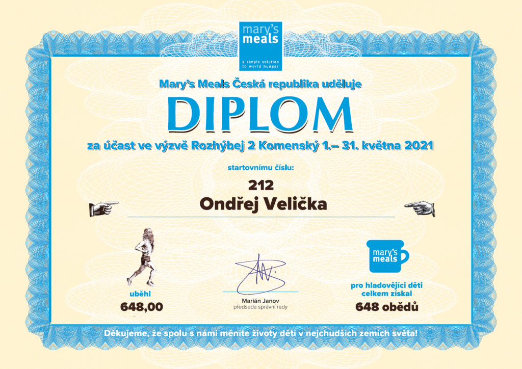 Diplom Mary's Meals